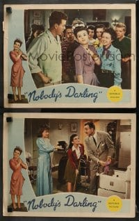 3k914 NOBODY'S DARLING 2 LCs 1943 America's Little Sister Mary Lee, directed by Anthony Mann!
