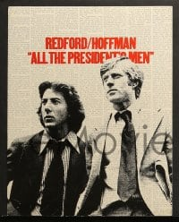 3k009 ALL THE PRESIDENT'S MEN 15 color 11x14 stills 1976 Hoffman & Redford as Woodward & Bernstein!