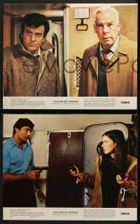 3k043 AVALANCHE EXPRESS 8 color 11x14 stills 1979 Lee Marvin, Robert Shaw, Linda Evans, Joe Namath!