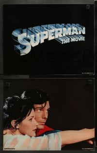 3k019 SUPERMAN 9 color 11x14 stills 1978 Christopher Reeve, Kidder, Brando, York, Hackman, Beatty!