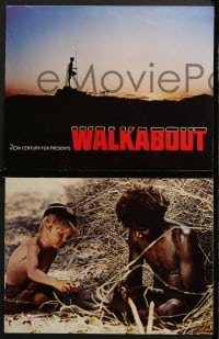 3k020 WALKABOUT 9 color 11x14 stills 1971 Jenny Agutter & Luc Roeg in the Outback!