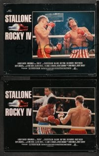 3k005 ROCKY IV 8 English LCs 1985 boxing heavyweight boxing champ Sylvester Stallone, Lundgren!