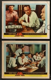 3k603 12 ANGRY MEN 4 LCs 1957 Henry Fonda, Sidney Lumet classic, great images of key scenes!