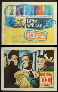 3k021 13 WEST STREET 8 LCs 1962 Alan Ladd, Rod Steiger, as shocking as a scream in the night!
