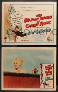 3k024 30 FOOT BRIDE OF CANDY ROCK 8 LCs 1959 cool images of giant Dorothy Provine & Lou Costello!