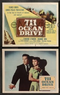 3k027 711 OCEAN DRIVE 8 LCs 1950 Edmond O'Brien, Joanne Dru, filmed under armed police protection!