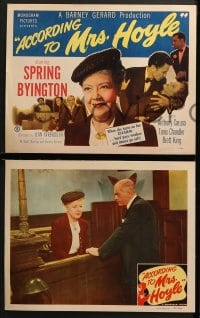 3k029 ACCORDING TO MRS HOYLE 8 LCs 1951 Spring Byington, Anthony Caruso, Tanis Chandler!