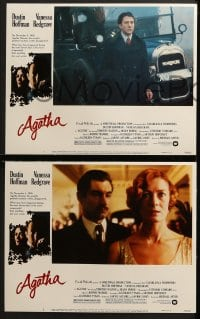 3k030 AGATHA 8 LCs 1979 images of Dustin Hoffman & Vanessa Redgrave as Christie!