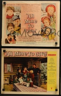 3k033 ALL MINE TO GIVE 8 LCs 1957 Glynis Johns, Cameron Mitchell, Rex Thompson!