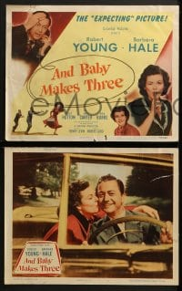 3k036 AND BABY MAKES THREE 8 LCs 1949 Robert Young & Barbara Hale in the expecting picture!
