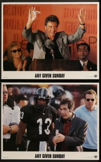 3k038 ANY GIVEN SUNDAY 8 LCs 1999 Oliver Stone, Al Pacino, Cameron Diaz, Jamie Foxx, football!