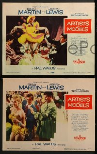 3k040 ARTISTS & MODELS 8 LCs 1955 Dean Martin & Jerry Lewis, sexy Shirley MacLaine!