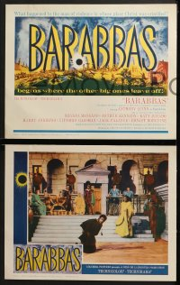 3k048 BARABBAS 8 LCs 1962 Anthony Quinn as the thief who was spared by Jesus' sacrifice!