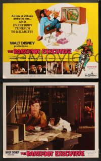 3k014 BAREFOOT EXECUTIVE 9 LCs 1971 Disney, Kurt Russell, wacky chimp gone bananas!