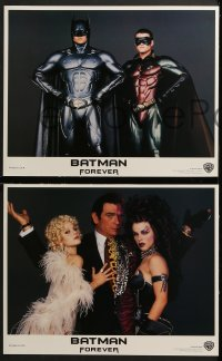 3k049 BATMAN FOREVER 8 LCs 1995 Kilmer, Kidman, O'Donnell, Tommy Lee Jones, Carrey, top cast