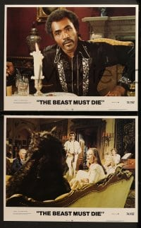 3k052 BEAST MUST DIE 8 LCs 1974 Peter Cushing, Calvin Lockhart, someone is a werewolf!