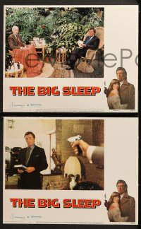 3k059 BIG SLEEP 8 LCs 1978 Robert Mitchum, sexy Candy Clark, James Stewart, Michael Winner