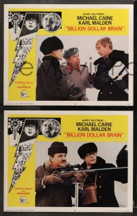 3k061 BILLION DOLLAR BRAIN 8 LCs 1967 Michael Caine, Karl Malden, directed by Ken Russell!