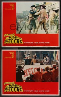 3k064 BLAZING SADDLES 8 LCs 1974 Cleavon Little, Wilder, Madeline Kahn, Mel Brooks western!