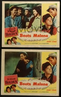 3k068 BOOTS MALONE 8 LCs 1951 William Holden, young horse jockey Johnny Stewart!