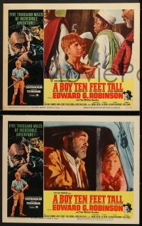 3k069 BOY TEN FEET TALL 8 LCs 1965 Edward G. Robinson, 5000 miles of incredible adventure!