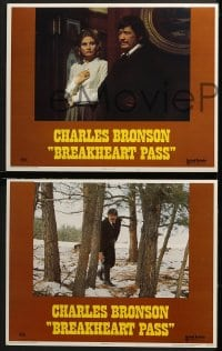 3k072 BREAKHEART PASS 8 LCs 1976 Alistair MacLean novel, Bronson, Richard Crenna, Jill Ireland!