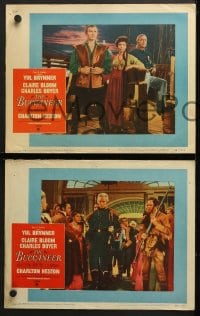 3k079 BUCCANEER 8 LCs 1958 Yul Brynner, Charles Boyer, Charlton Heston, director Anthony Quinn!