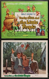 3k126 DARBY O'GILL & THE LITTLE PEOPLE 8 LCs R1969 Disney, Sean Connery, it's leprechaun magic!