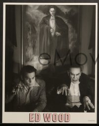 3k011 ED WOOD 10 LCs 1994 Johnny Depp, Martin Landau, mostly true, directed by Tim Burton!