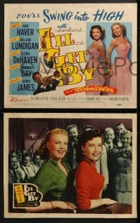 3k224 I'LL GET BY 8 LCs 1950 prettiest June Haver & Gloria DeHaven, William Lundigan, Harry James!