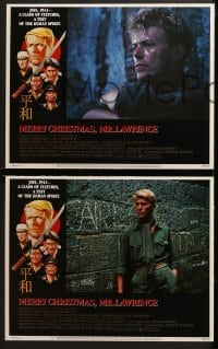 3k293 MERRY CHRISTMAS MR. LAWRENCE 8 LCs 1983 David Bowie, really cool border art by Makhi!