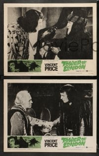3k676 TOWER OF LONDON 4 LCs 1962 Vincent Price, Roger Corman, do you have the courage?