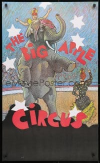 3r045 BIG APPLE CIRCUS 22x36 circus poster 1980s cool different Paul Davis artwork of elephant act!