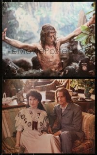 3r037 GREYSTOKE group of 4 color 16x20 stills 1983 Christopher Lambert as Tarzan, Lord of the Apes!