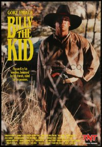 3r050 BILLY THE KID tv poster 1989 image of cowboy Val Kilmer in the title role!