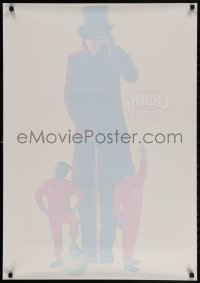 3r034 CHARLIE & THE CHOCOLATE FACTORY 25x36 static cling poster 2005 Depp as Willy Wonka, Burton!
