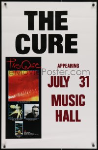 3r075 CURE 25x38 music poster 1987 appearing July 31 at Music Hall, cover art from albums!