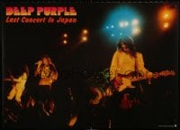 3r077 DEEP PURPLE 23x33 Japanese music poster 1977 stage image from Last Concert in Japan!