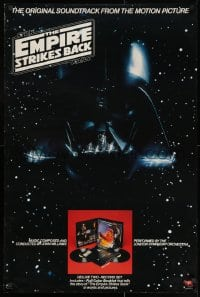 3r079 EMPIRE STRIKES BACK 24x36 music poster 1980 Darth Vader mask in space, one album inset image!
