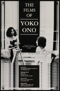 3r062 FILMS OF YOKO ONO 24x36 film festival poster 1991 great image of her and John Lennon!