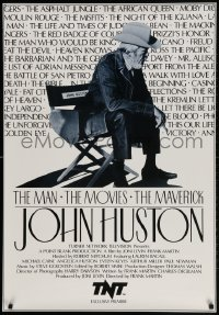3r053 JOHN HUSTON: THE MAN, THE MOVIES, THE MAVERICK tv poster 1989 great image of director!