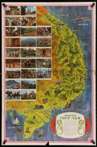 3r041 SOUTH VIET-NAM 25x38 Vietnam War poster 1966 Mike Roberts design with poem, map, images!