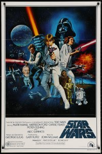 3r934 STAR WARS style C int'l 1sh 1977 George Lucas sci-fi epic, art by Tom William Chantrell!