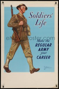 3r044 SOLDIERS' LIFE 25x38 WWII war poster 1941 make it your career, soldier by Tom B. Woodburn!