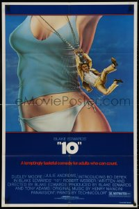 3t010 '10' 1sh 1979 Blake Edwards, Alvin art of Dudley Moore, sexy Bo Derek, white border design!