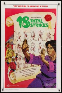 3t012 18 FATAL STRIKES 1sh 1981 martial arts, they taught him the ancient way of killing!