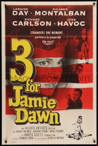 3t003 3 FOR JAMIE DAWN 1sh 1956 Laraine Day, Ricardo Montalban, Richard Carlson!