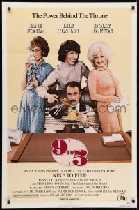 3t009 9 TO 5 1sh 1980 Dolly Parton, Jane Fonda & Lily Tomlin w/tied up Dabney Coleman!