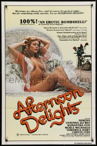 3t019 AFTERNOON DELIGHTS 1sh 1980 very sexy Serena is fun in the morning & good at night too!