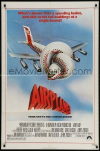 3t020 AIRPLANE 1sh 1980 classic zany parody by Jim Abrahams and David & Jerry Zucker!